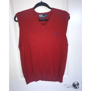 Polo by Ralph Lauren Red Sweatervest❗️
